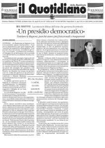 04042014_IlQuotidiano_Petrolio_Lacorazza_Un presidio democratico