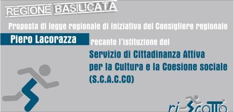 SCACCO Servizio di cittadinanza attiva, proposta di legge Lacorazza