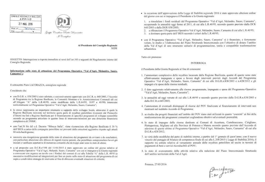 interrogazione-sullo-stato-di-attuazione-del-programma-operativo-val-dagri-melandro-sauro-camastra